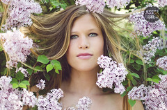 Claire | Lilac (Jessica Lisbeth) Tags: flowers light portrait girl spring natural may lilac series mayflowers