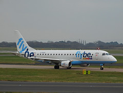 G-FBJH Embraer 175 of Flybe (SteveDHall) Tags: aircraft airport airliner airliners aviation aerodrome airfield manchester manchesterairport flybe gfbjh embraer e175 embraer175 rj170 rj175