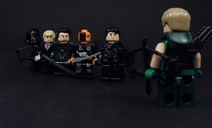 The Villains of Arrow (MrKjito) Tags: lego minifig green arrow cw oliver queen villains 5 seasons dark archer deathstroke ras al ghul damian darhk prometheus malcolm merlyn slade wilson