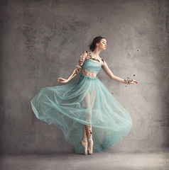 Summer Skeleton (Michelle.A.M.) Tags: surreal ballet pointe kinda self portrait studio dance graceful whimsical flowers fantasy teal myserious faerie tale woodland makebelieve braid conceptual fine art meaning nature