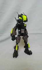 Cyber Surfer Returns (ohlookitsanartist) Tags: cyber surfer version second first black green lime silver grey highlights hover board hoverboard bionicle lego moc vehicle rocket show stealth engine