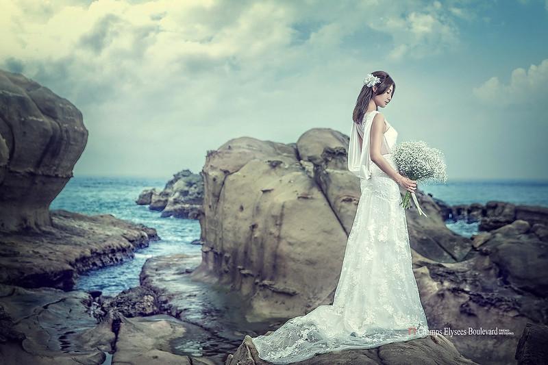 九份,婚紗作品,東北角,蝴蝶結,手工蕾絲,婚紗攝影