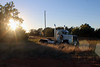 (caralampton) Tags: semitruck truck work light outdoor lenseflare