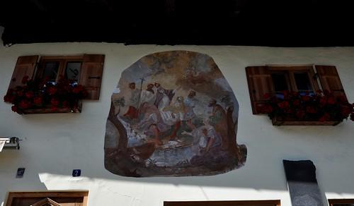 Oberammergau (Alemania). Pintura en una casa