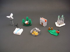 Outlaws Advent Calendar (Cab ~) Tags: lego advent outlaws frostclaw bodus forest dragon keep camp snow wall citadel hoard archery moc calendar foitsop