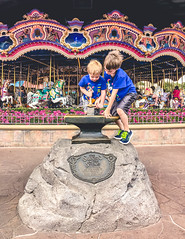 22/365 Whoso pulleth out this sword of this stone and anvil is rightwise king born of all England.  -Thomas Malory (haazelita) Tags: magickingdom carousel 365 disneyworld p365 swordinthestone