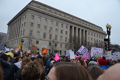 7th & Constitution, behind the FTC (railsnroots) Tags: demonstrations first amendment womens march protest signs