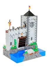 Forestmen Rescue (jsnyder002) Tags: lego moc creation castle medieval wall tower moat landscape drawbridge interior dungeon crusader forestmen