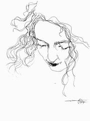 P1016043 (Gasheh) Tags: art painting drawing sketch portrait woman line pen gasheh 2017