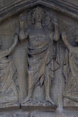 Saint Omer, Nord-Pas-de-Calais, Cathédrale Notre-Dame, south transept, entry, tympanum, detail