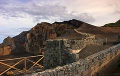 fencing off what a volcano eruption left - HFF! (lunaryuna) Tags: portugal azoresislands azores ilhasazuais ilhadofaial faialisland capelos capelinhosvolcano volcaniccentre eruption fencedoff wall fences fencefriday lunaryuna