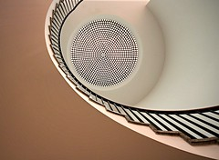 the fly (Fotoristin - blick.kontakt) Tags: architecture spiral stairs staircase swirl abstract lines curves light compoundeye pastel thefly fotoristin