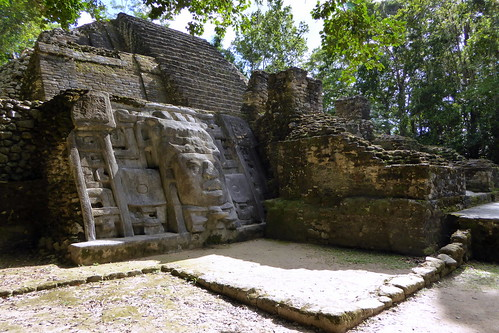 Mayan Mask Temple Left Side
