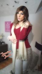 Scarlet & Cream (jessicajane9) Tags: tv tranny trans cd crossdress crossdressing xdress transgender tgirl m2f boy2girl feminine feminised feminized lgbt tg