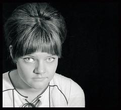 Wife in 1969... (iEagle2) Tags: analog analogfilm analogue blackandwhite blackwhite bw ehefrau female femme frau film minolta srt101 sweden teen woman wife eyes sixties 1969