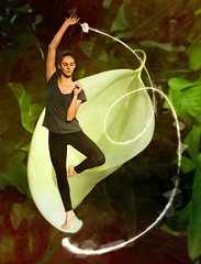 A Perfect Balance (Cameras and Dancers Series) (bethrosengard) Tags: bethrosengard photomanipulation digitallyenhanced photoart digitalmagic digitalart camerasanddancers