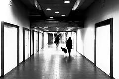 umbrELLA (Hen_rik) Tags: oslo oslos jernbanetorget underground undergrund blackwhite paraply people mennesker gang
