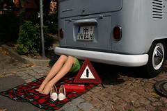 Smile on sunday! :) (cars and other vehicles) (Rainer D) Tags: humoronsunday 2005 winsenluhe smileonsunday vw vwbulli lady smileonsundaycarsandothervehicles carsandothervehicles