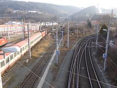 Train leaving Innsbruck HbF for Verona