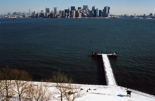 New York, from the Statue of Liberty