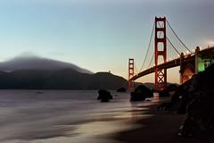 Brooklyn Bridge (lomokev) Tags: sanfrancisco california bridge sea sky beach canon landscape dusk goldengatebridge eos1 sanfrancisco2005 bridgeovertheriverkwai  deletetag top20landmarks rota:type=landscape rota:type=showall rota:type=perspective file:name=sf2005g33