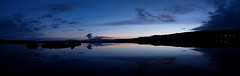 dusk (Snorri Thor) Tags: blue sunset sky panorama lake reflection clouds lights dusk steam february judgmentday54