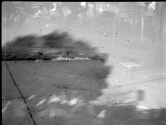 Memo to Self (efo) Tags: california park shadow bw tree de berkeley doubleexposure memo halfframe ansco