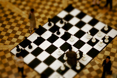 chess board tilt shift