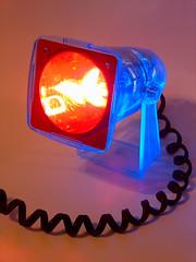 Strobe light (Ikayama) Tags: blue light red neon uv fluorescent blacklight ultraviolet gel strobe