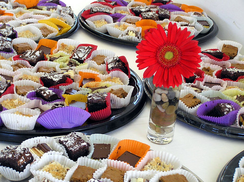 Dessert spread at wedding reception