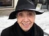 Elizabeth in Snow (jeffcbowen) Tags: elizabeth street stranger toronto portrait snow hat winter smile thehumanfamily