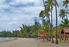 Puerto Rico-Famous  Luquilla tropical beach (ustung) Tags: puertorico luquilla beach sand tropical island outdoor kodak landscape seascape shore palm trees