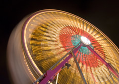 Fair #10 (Mark Interrante) Tags: red blur topv111 night wow ride fair ferriswheel midway countyfair nocturne sanmateo sanmateofair blueplum
