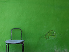 Painful backache (baboon) Tags: color green wall israel telaviv chair minimal minimalism minimalist color:hsv_avg=519e85 color:hsv_med=4ea183 color:rgb_avg=3b8633 color:rgb_med=3d8330 0x3f8535