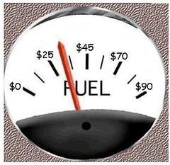 Funny fuel gauge