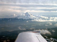 Mt. Hood from my Cirrus SR22 (pfflynn) Tags: cirrus sr22 mthood airplane generalaviation volcano scenery flying clouds