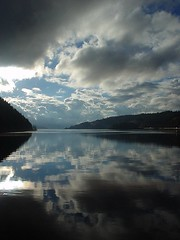 Coeur d'Alene Lake Reflections (joshredux) Tags: travel outdoors idaho coeurdalene