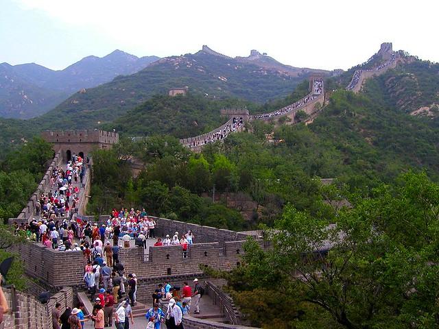 Turistas en la Gran Muralla