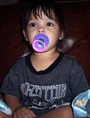 Pacified (Tie Dye Jedi) Tags: baby cute girl topv111 adorable ledzeppelin topv50 pacifier topv200 kenedy topv75