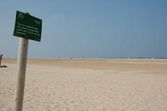 Advice, Holkham Bay (Drift Words) Tags: beach sign norfolk naturist birthdaysuit holkham