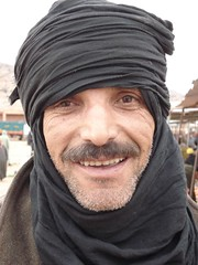 In a small market of Morocco