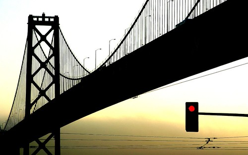 Bay Bridge Silhouette