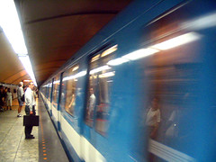 Incoming (pauly...) Tags: underground subway metro montreal quebec canada movement motion blur reflections amiko