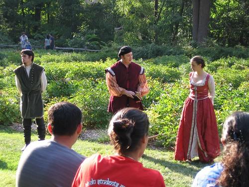 Demetrius, Egeus and Hermia