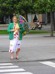 Shes a lady (Caro Spark) Tags: people lady umbrella rain city woman gijon asturias spain gentelatercerajuventud
