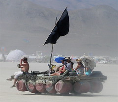 Pirate raft art car