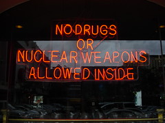 No Drugs or Nuclear Weapons after 9pm, please