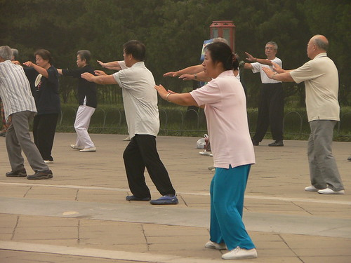 Tai chi practitioners in Beijing
