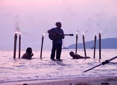 Beach Sunset Music Musician Guitarist Thailand Southeast-Asia (hn.) Tags: sunset sea copyright music beach water rock thailand asia asien heiconeumeyer seasia soasien southeastasia sdostasien guitar guitarist krabi aonang copyrighted suedostasien 0xbba2c2