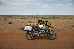 crotch rocket on the Birdsville track (nospuds) Tags: rockettour motorbikes bmw r1200gs crotchrocket simpsondesert birdsvilletrack